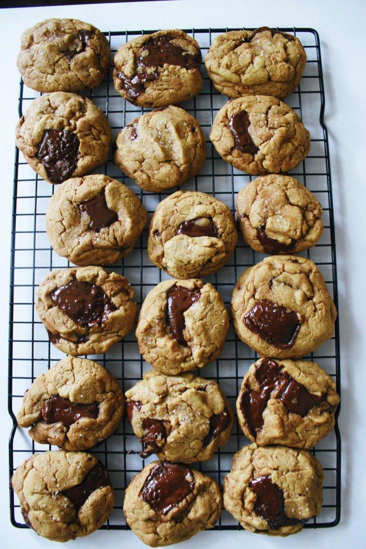 веган бисквити с шоколадови парченца