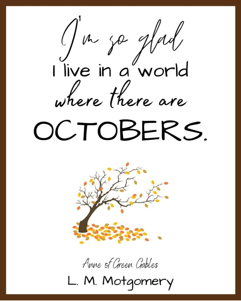 Anne of Green Gables Free Printable