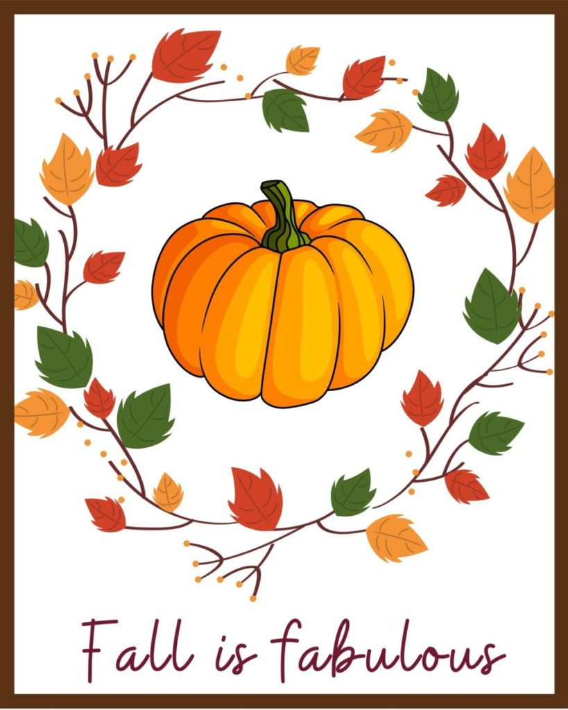 Fall is Fabulous Free Printable