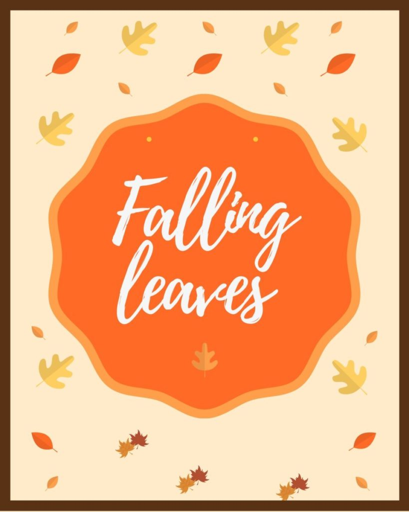 Falling Leaves Free Printable