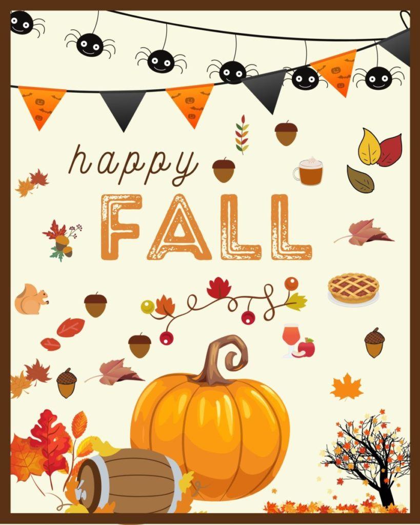 Happy Fall Free Printable